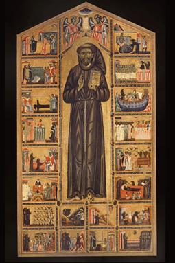 Vita di s francesco tavola cappella bardi di s croce basilica di santa croce in firenze - La tavola degli ufficiali ...