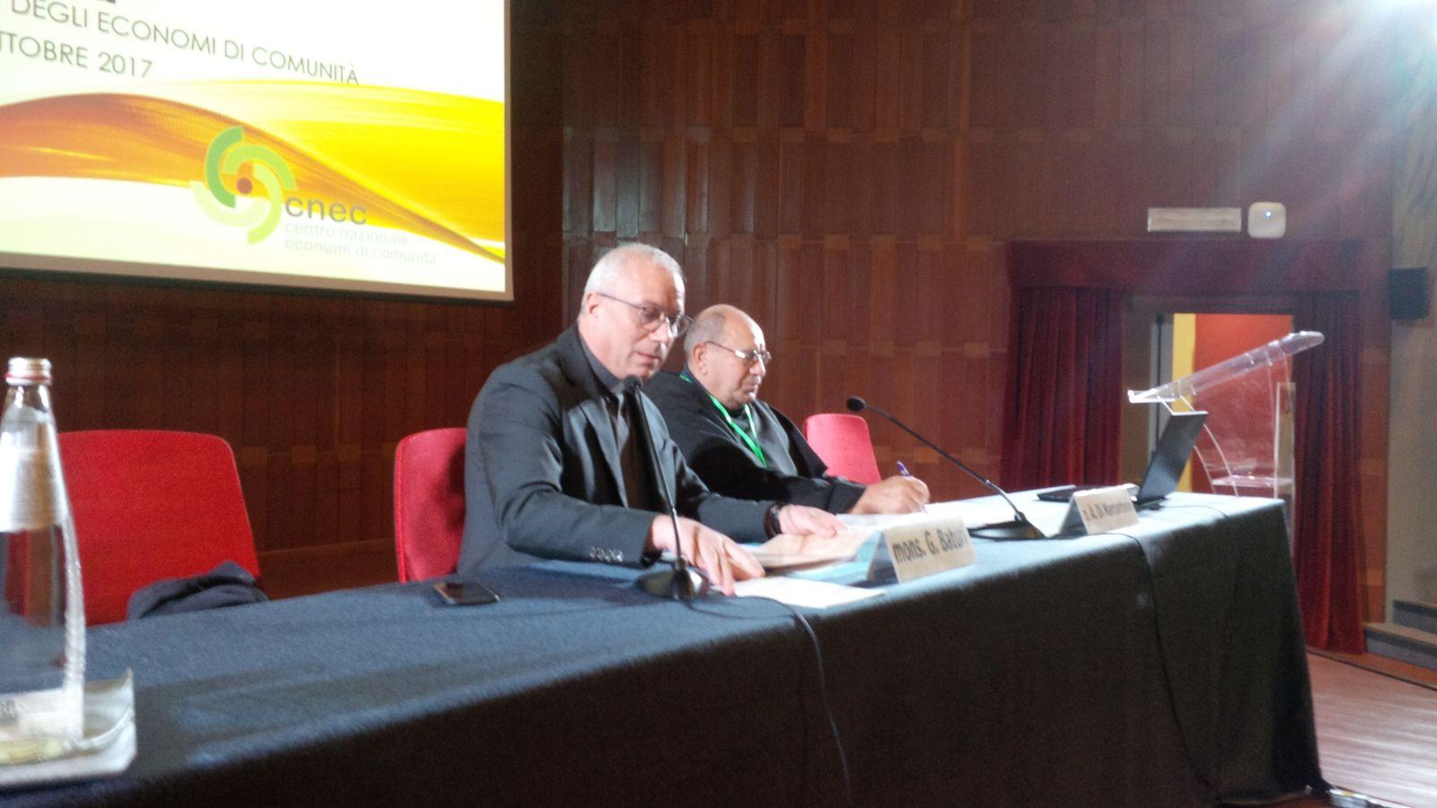 P. Antonio con Mons. Giuseppe Baturi aottosegretario CEI